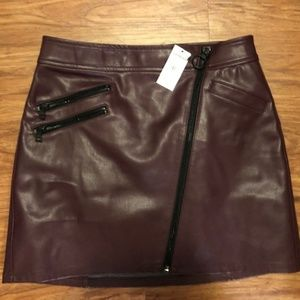Express Mini Faux Leather Skirt